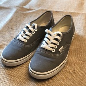 Vans Gray Size Womens US 8 Lace Up Sneakers